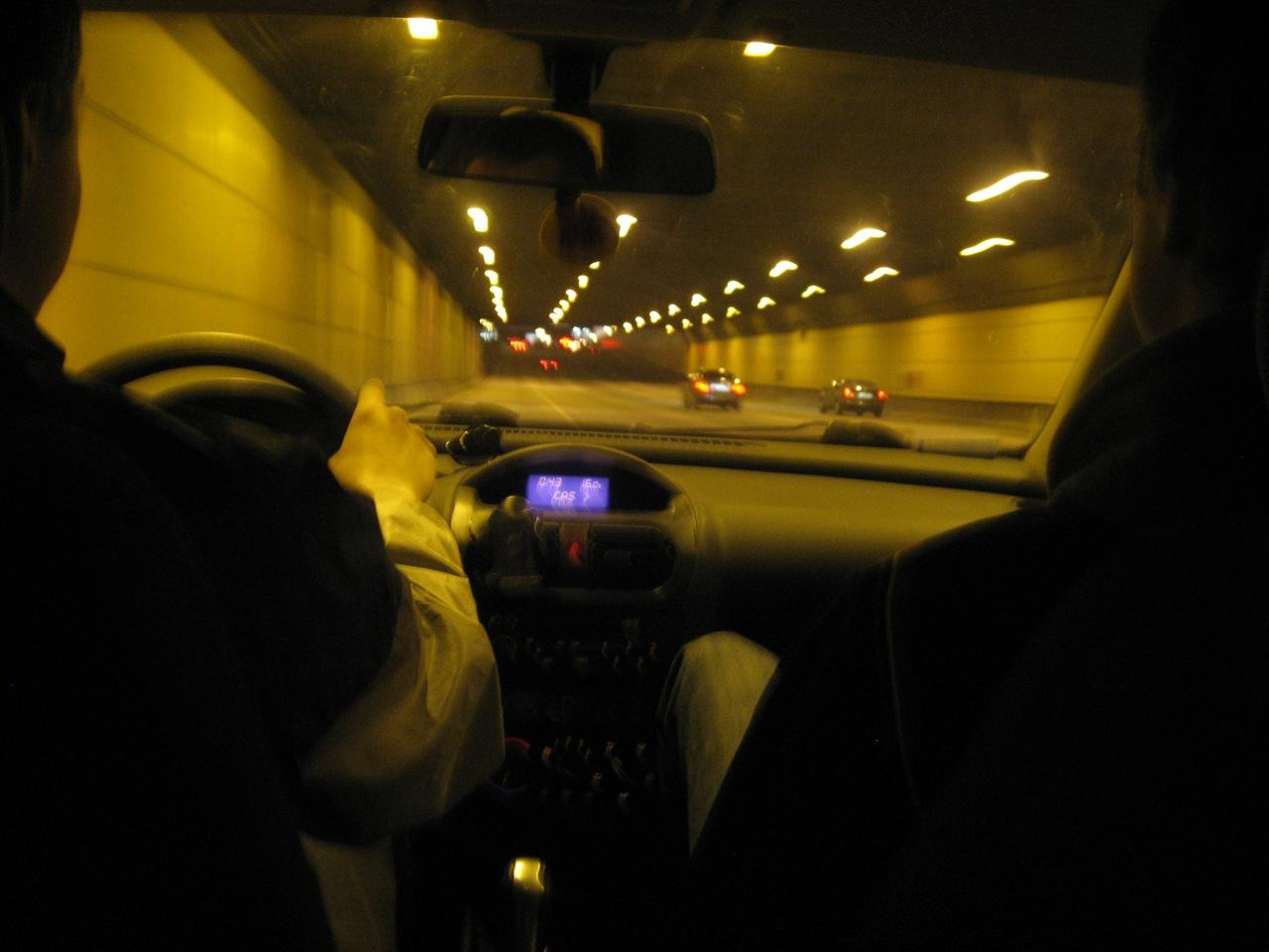 Фото ночной москвы из машины