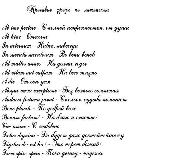 Тату надписи со смыслом и переводом