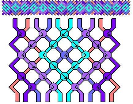фуксия из бисера мастер класс схемы плетения