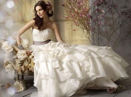 Свадебные платья Off-Shoulder Elegant Long Pleated Belt Wedding Dress...