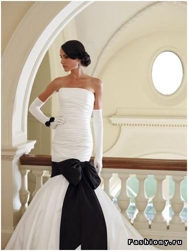 Вот что я могу предложить невесте к черно-белой свадьбе.
