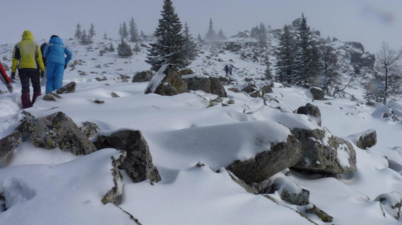 курумы под снегом