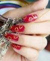 рисуем рисунки на ногтях ))))))♡♡♡ღღღ ♥♥♥