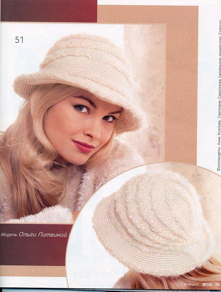 Как вяжут шляпы спицами