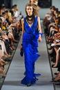 Модное синее вечернее платье 2012 из шифона.