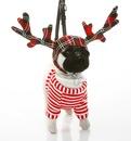 Сумка-собака Мопс Олень в подарочной упаковке Fuzzynation.