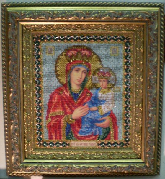 Рамка для иконы Богородица Споручница грешных 19,1 х 22,8 см (Радуга Бисера) .