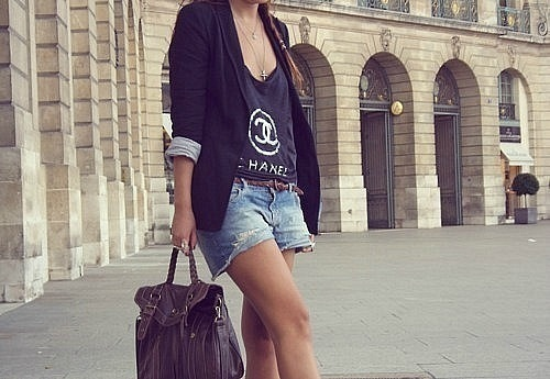 девушка, модель, сумка, шорты, шанель - картинка 7452 на Favim.ru.