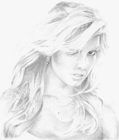 Красивые нарисованные карандашом картинки девушки.