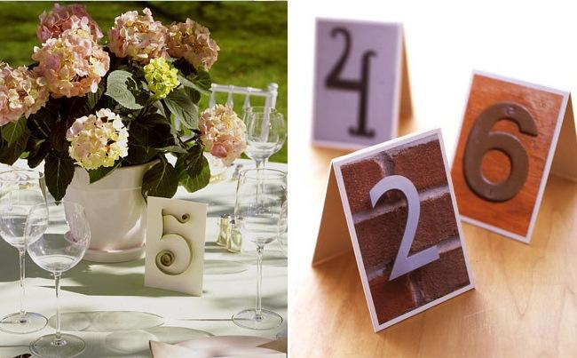 Как сделать номера столов на свадьбу своими руками