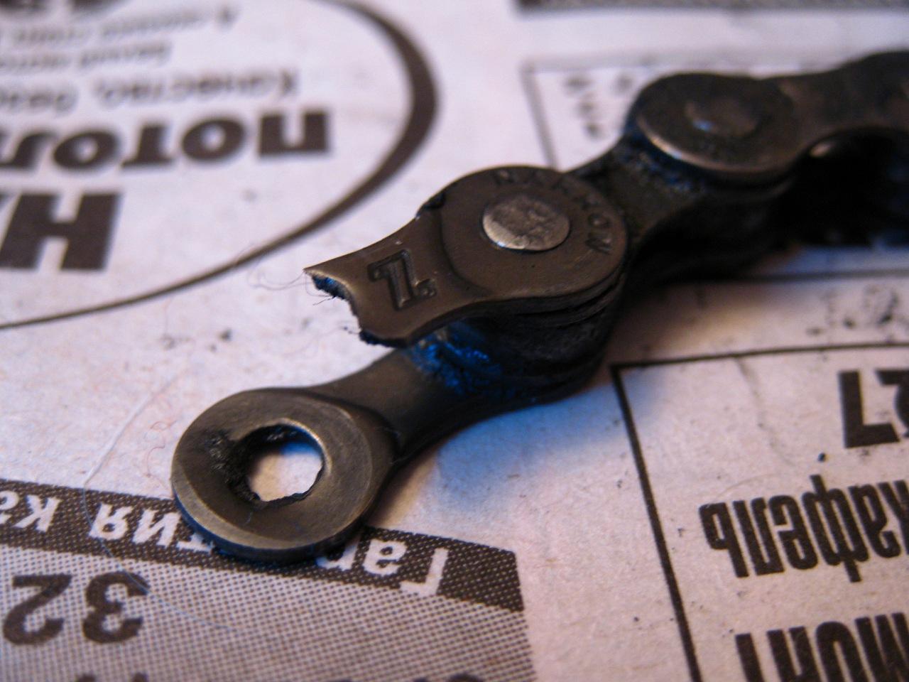 Велосипед Stels Navigator 830 – порванная цепь
