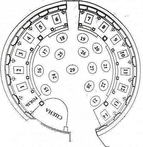 План зала ресторана Невский