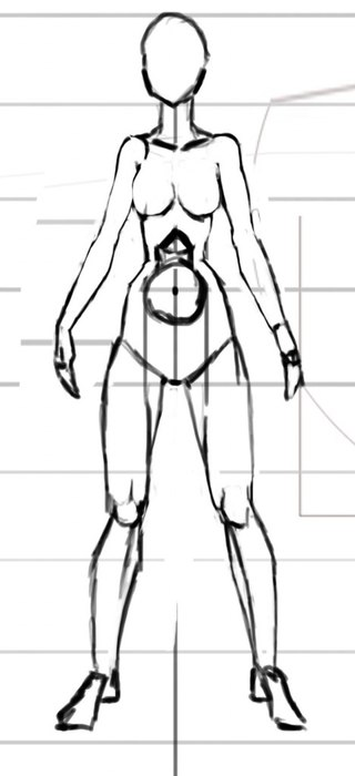 схема рисование людей и аниме.  8.