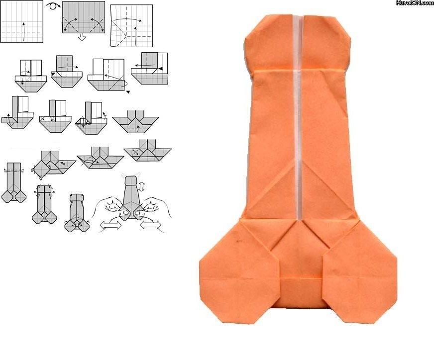 Необычное оригами Видимо, для