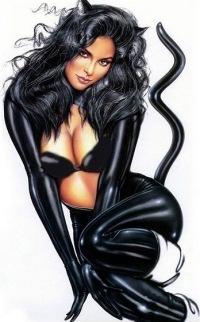 """Оригинал - Схема вышивки  """"Женщина-кошка """" - Схемы автора  """"Fardo..."""
