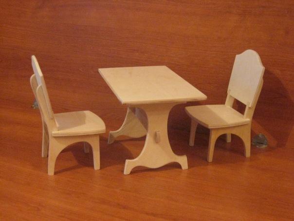 Столы и стулья для кукол своими руками 181