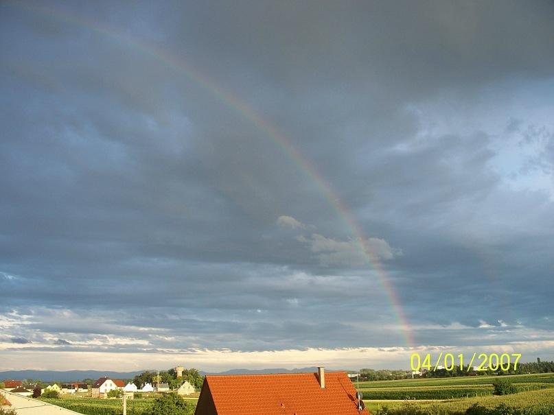 панорамный снимок Радуги фотограф Рассим Благодарь Франция Эльзас 2007