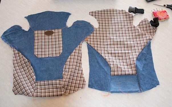 К комплекту могу сшить погремушку из сааамых последних кусочков ткани.
