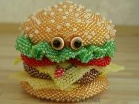 Еда ручной работы.  Гамбургер.  Гуменюк Ирина.  Ярмарка Мастеров.