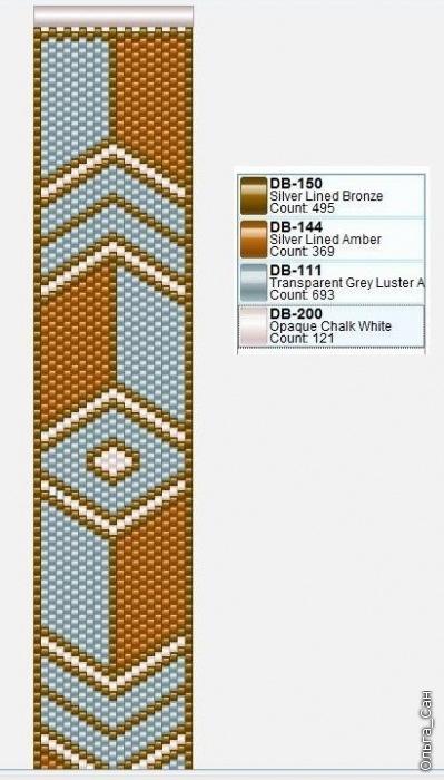схемы браслет широкий из бисера