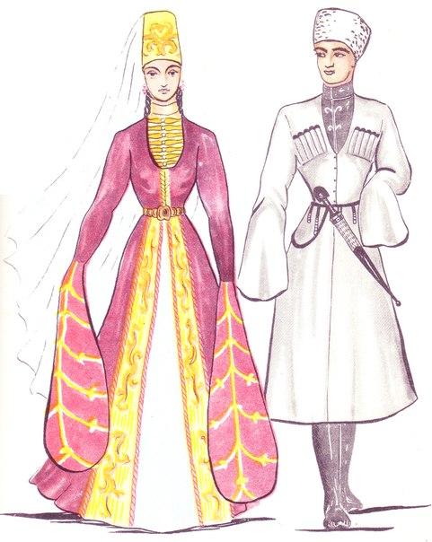Рисунок осетинского платья