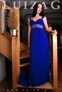 Новое синее вечернее платье в стиле ампир Одежда, обувь - Свадебные и...