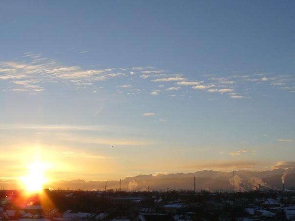 7 утра. рассвет
