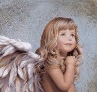 """Предпросмотр схемы вышивки  """"милый ангел """". милый ангел, ангелы, предпросмотр."""
