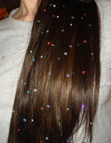 Как сделать стразы для волос