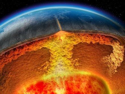 Магма, поднимающаяся наверх, образует очаг супервулкана