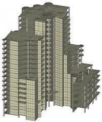 ...конечно-элементного анализа конструкций и ориентированный на решение задач проектирования зданий и...