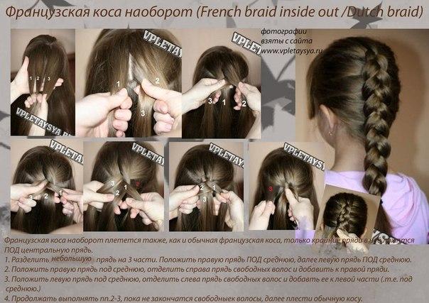 Французская коса «наоборот»