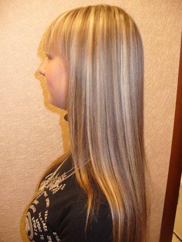 Волосы на Sfino: покраска после мелирования