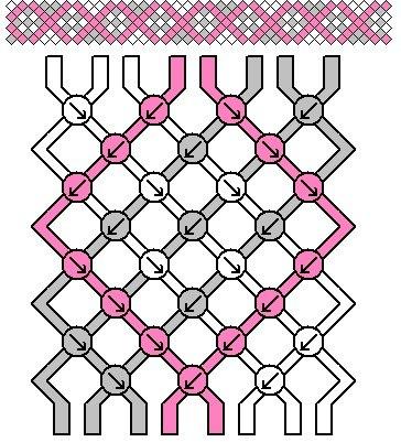 схема плетения ромбики с