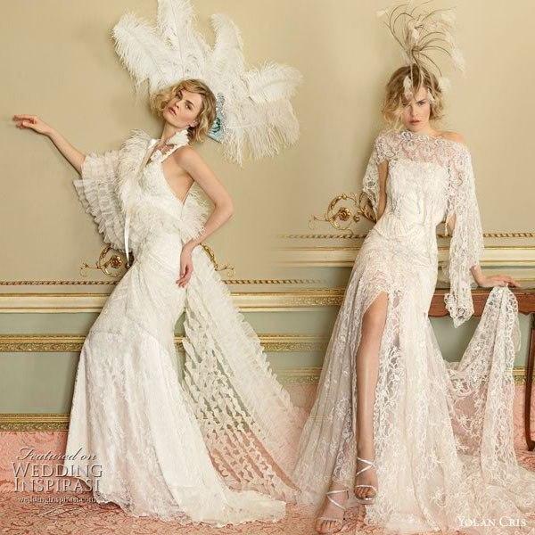 свадебное платье в стиле винтаж.