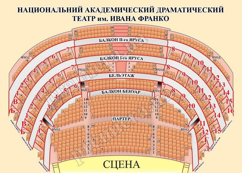 Театр франко схема зала