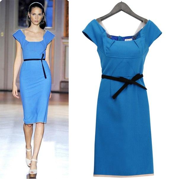 Платье-футляр с открытой спиной - yabaowood, Платье-футляр с кружевами.