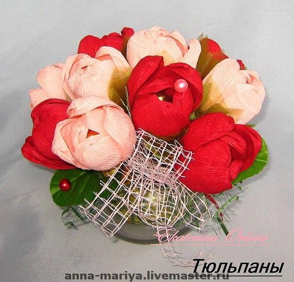 как сделать тюльпаны из одноразовых ложек пошагово