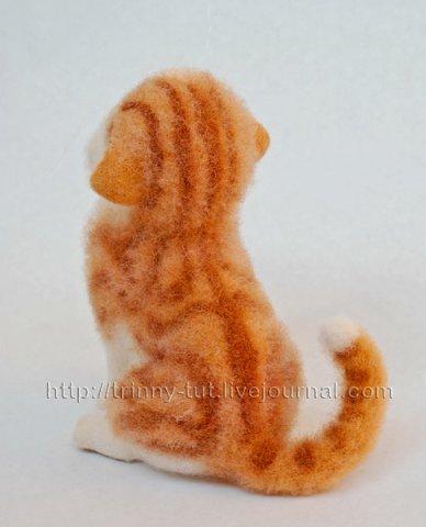 валяние из шерсти мастер класс рыжий котик - Сумки.