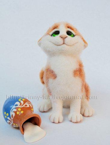 Валяная игрушка кот.