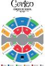 Схема зала большого купола Цирка Дю Солей.