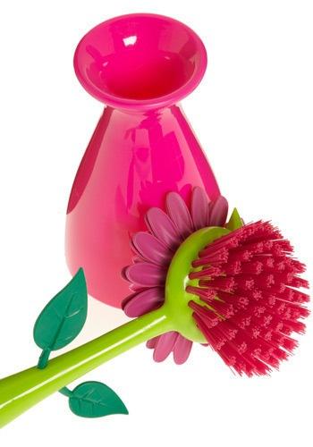 Щетка для кухни- цветок в вазе