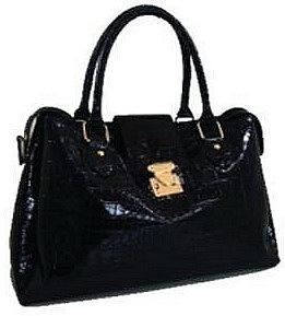 09 Черная лаковая сумка Сумка Black Croc от Орифлейм.  Код: 22229.