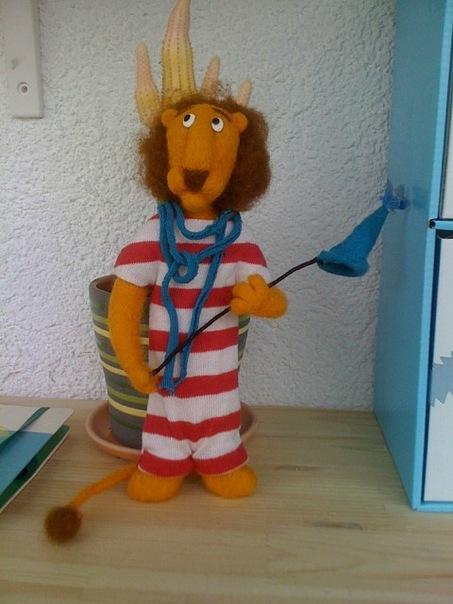 Ручная работа, handmade. игрушка из валяной шерсти Бонифаций-1.