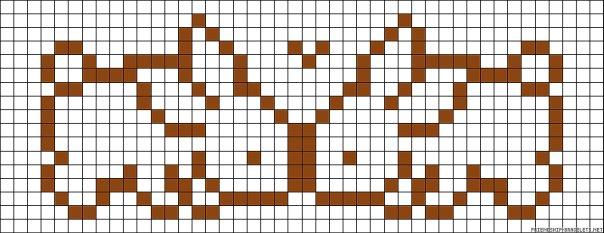 Схема фенечки найк прямым плетением - Делаем фенечки своими руками.