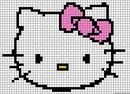 "Схема фенечки  ""Hello Kitty "".  Логотип бренда Хеллоу Китти."