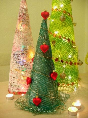 Большая елка из ниток своими руками - Поделки к Новому году своими руками. Самоделки