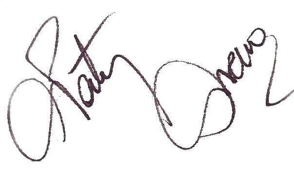 Автограф Натальи Орейро