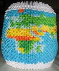 вязаный плед зайчики схема. модульное оригами схемы сборки.