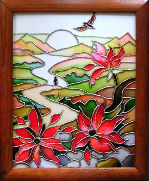 Картинки на стекло своими руками